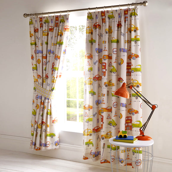 Kids Club Cars Bedroom Curtains