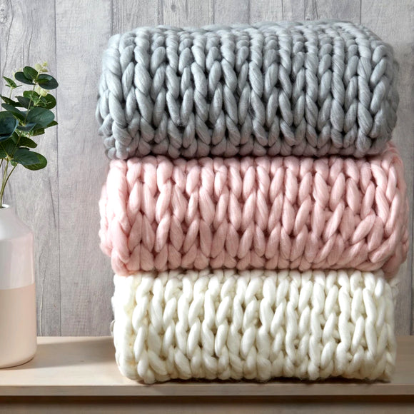 Super Chunky Knitted Throw