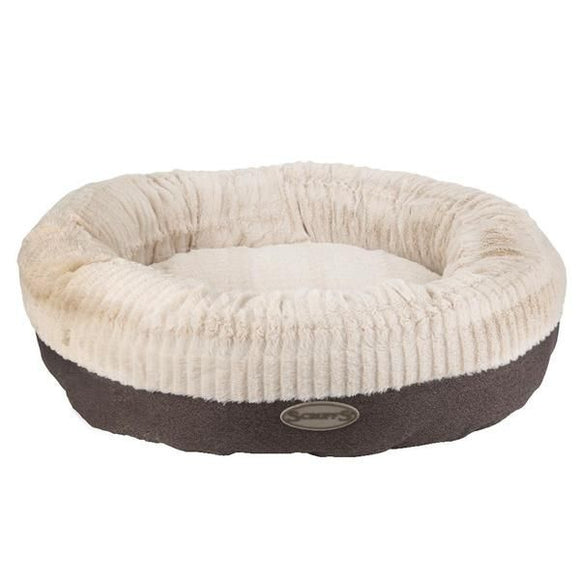 Ellen Faux Fur Donut Dog Bed