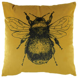 Gold Bee Velvet Cushion