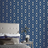 Glitter Diamond Navy/Gold Wallpaper