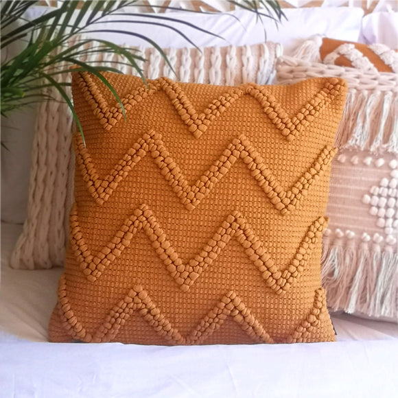 Ikos Chevron Bobble Cushion