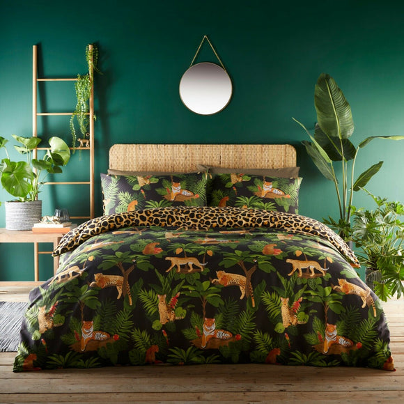 Jungle Cats Leopard Print Duvet Set