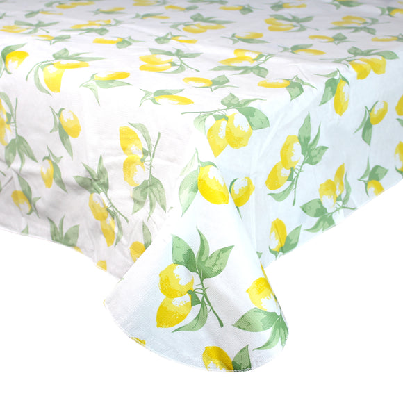 Lemon Wipe Clean Tablecloth