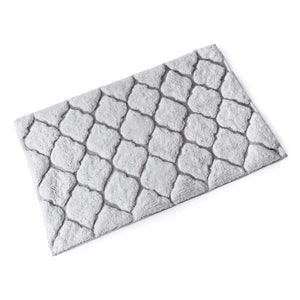 Moroccan Metallic Cotton Bath Mat