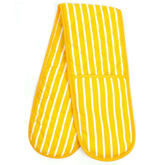 Butchers Stripe Double Oven Gloves