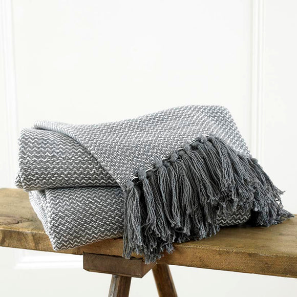 Opus Waves Tassel Cotton Throw
