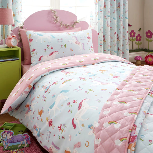Kids Club Magical Unicorns Duvet Set