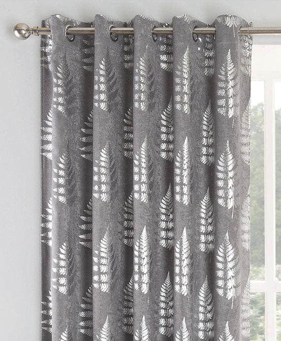 Ritz Metallic Fern Curtain Pair