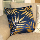 Riviera Metallic Leaf Cushion