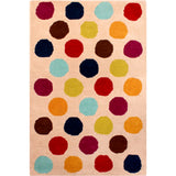 Kids Unique Polka Dots Wool Rug
