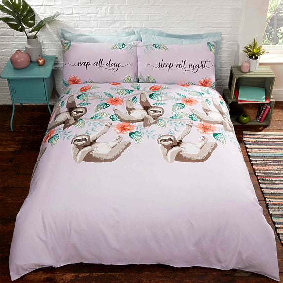 Sloths Printed Duvet Set