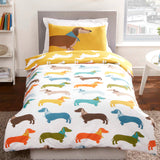 Sausage Dog Printed Duvet Set