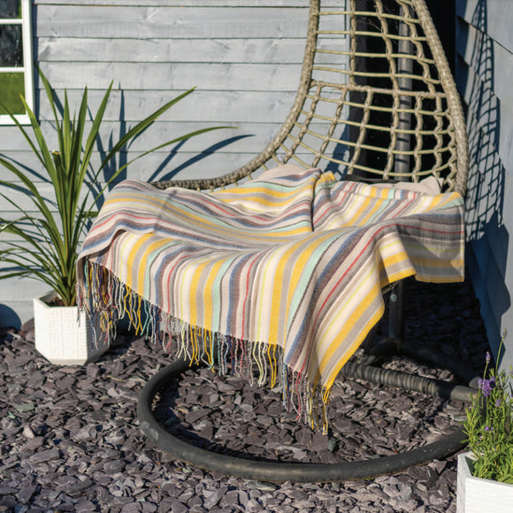 Classic Multi Striped Ochre Throw