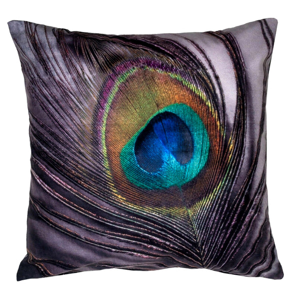 Feather Velvet Printed Cushion