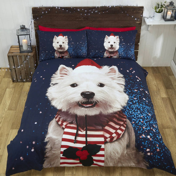 Westie Winter Duvet Set