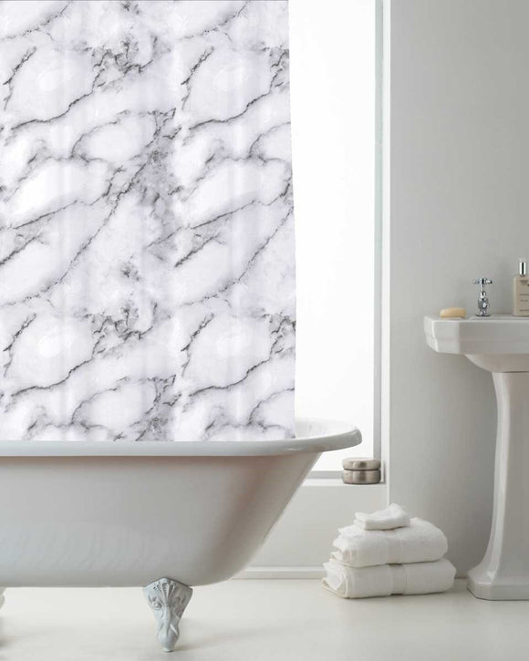 Marble Design Shower Curtain Set