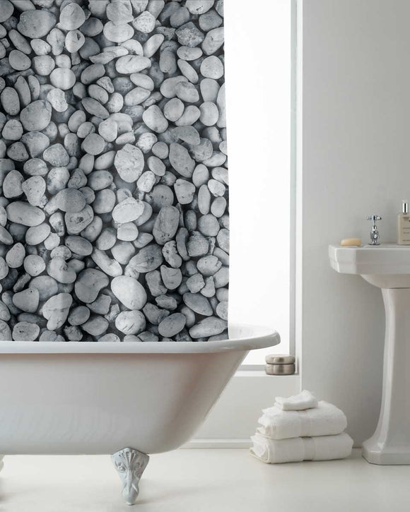 Pebble Design Shower Curtain Set