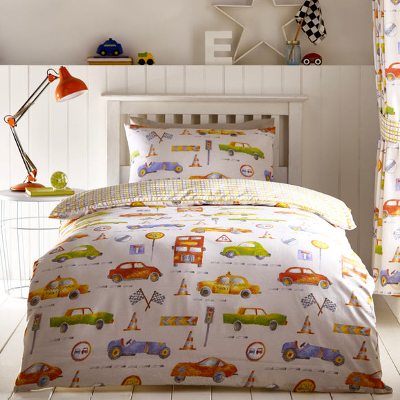 Kids Club Cars Duvet Set