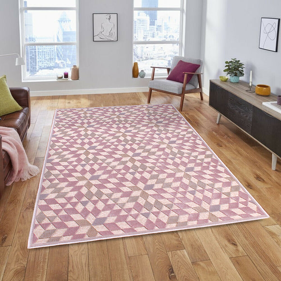 Dimensions Illusion 3D Carved Rug