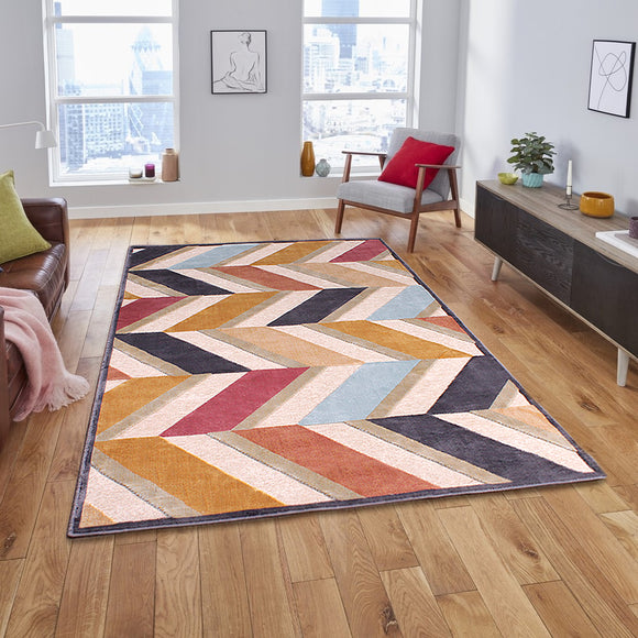 Dimensions Chevron 3D Carved Rug