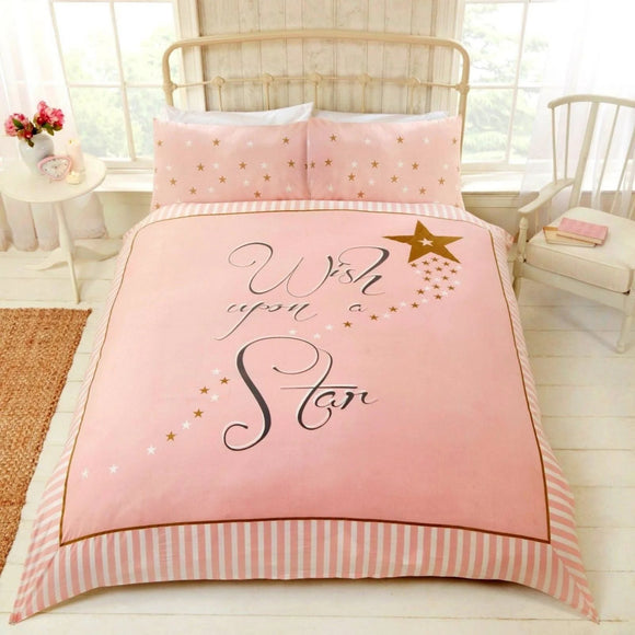 Wish Upon A Star Metallic Duvet Set