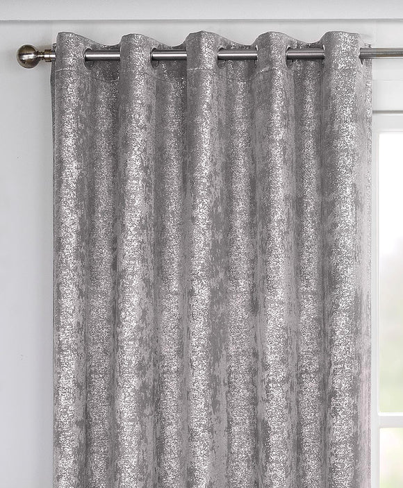 Halo Metallic Curtain Pair