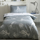 Glow In The Dark Ocean Life Duvet Set