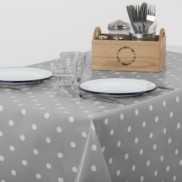 Polka Dot Wipe Clean Tablecloth