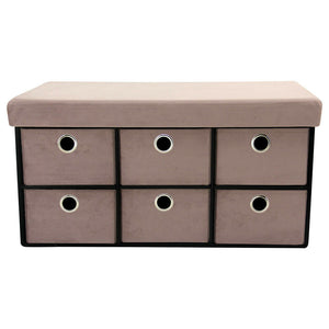 Falun Folding Ottoman with Drawers