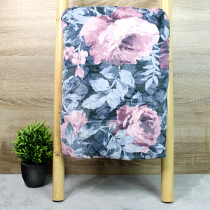 Blossom Design Microplush Throw