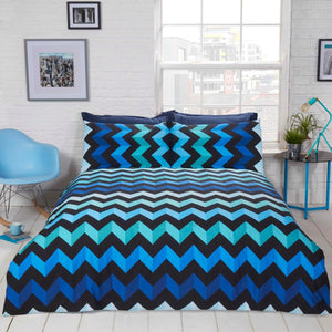 Three D Chevron Duvet Set