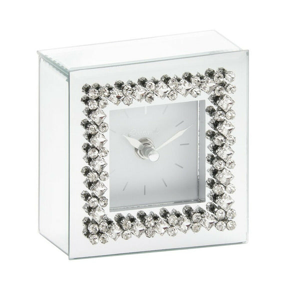 Mirror Diamond Mantel Clock