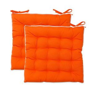 2pc Orange Water Repellent Seat Pads