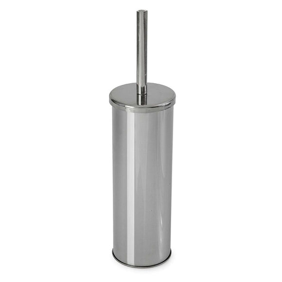 Round Chrome Top Toilet Brush & Holder