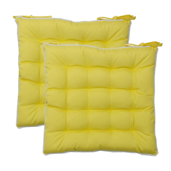 2pc Yellow Water Repellent Seat Pads