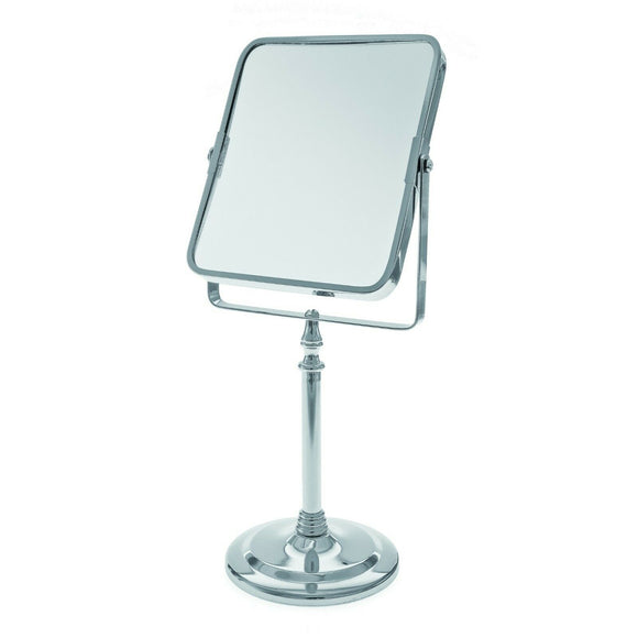 Oblong Swivel Pedestal Mirror