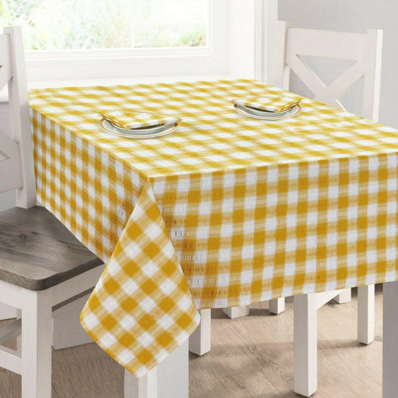 Seersucker Cotton Tablecloth