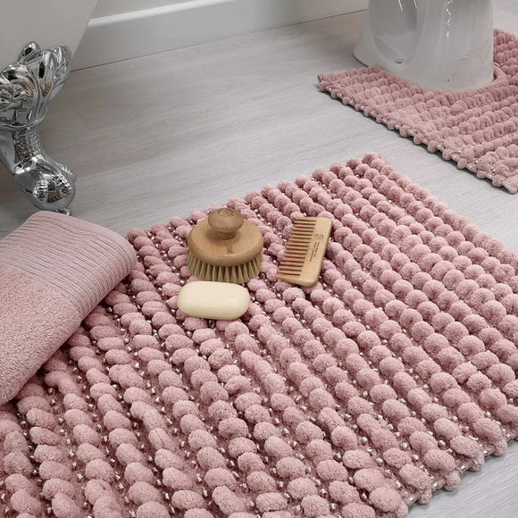 Satin Bobble Bath Mat