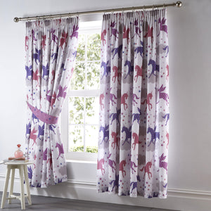 Kids Club Divine Unicorns Bedroom Curtains