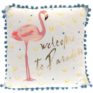 Welcome to Paradise Pom Pom Cushion