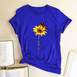 Cotton T Shirt Women's Graphic Tee