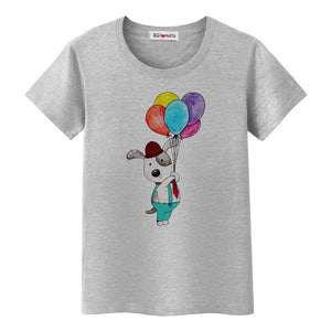 Dog With Balloons tTshirt