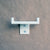 Satin White Double Towel / Robe Hook, Bathroom or Kitchen Wall Hanger