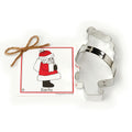 Cookie Cutter w recipe card - Santa Claus
