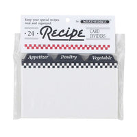 Recipe Card Dividers, 3x5, Pack of 24