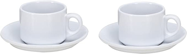 OmniWare Espresso Set, Set of 2, White
