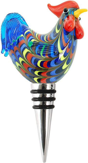 Glass Rooster Stopper