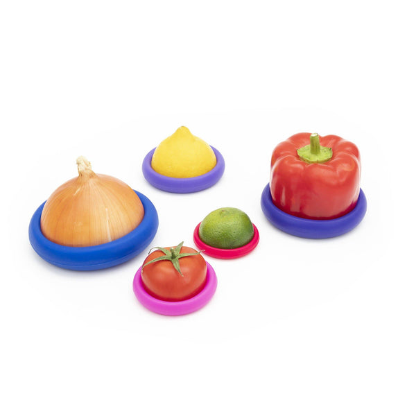 Food Huggers Bright Berry, Set of 5
