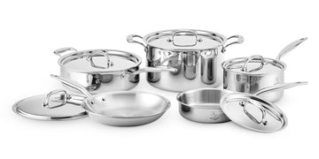 Heritage Steel 10 Piece Cookware Set